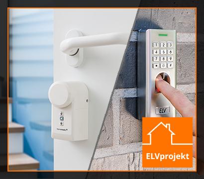 Zutrittssteuerung mit ELV Fingerprint-Zahlenschloss FP100 und dem Homematic IP Türschlossantrieb HmIP-DLD